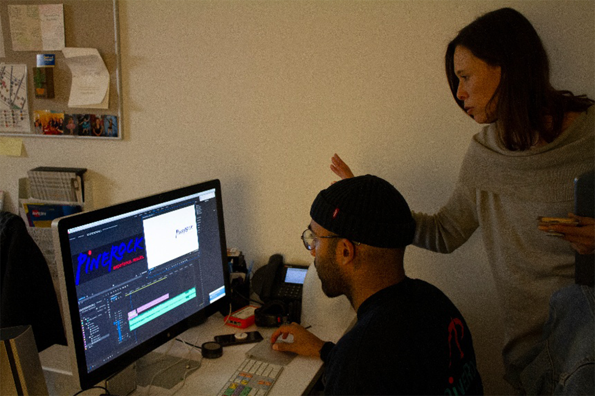 PineRock Video - Editing at our New York Office