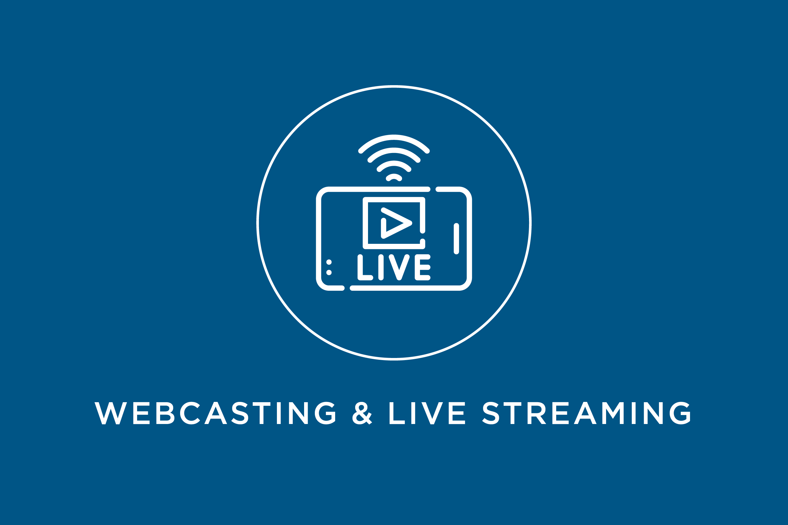 Digital Events Webcasting Streaming